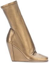 Rick Owens slanted wedge boots - women - Leather - 36