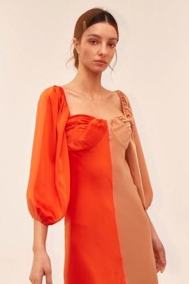 C/Meo THOUGHTFUL DRESS vermilion w tan
