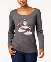 Karen Scott Cotton Geese-Print T-Shirt, Created for Macy's