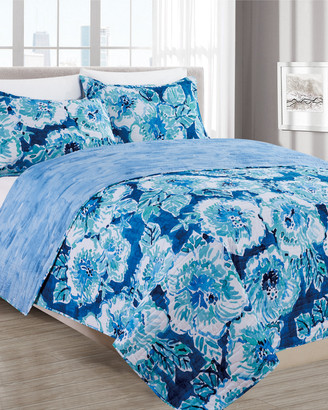 Melange Home Barbarian Hibiscus Bounty Quilt Set