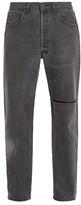 Vetements X Levi's Logo-embroidered Straight-leg Jeans