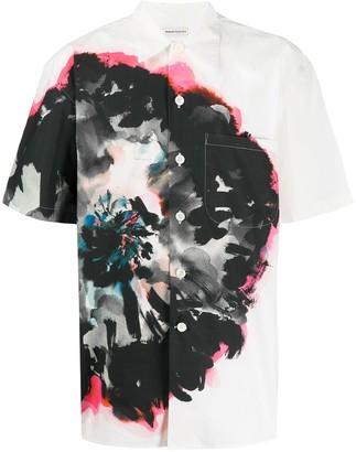 Alexander McQueen Flower Print Short Sleeve Shirt