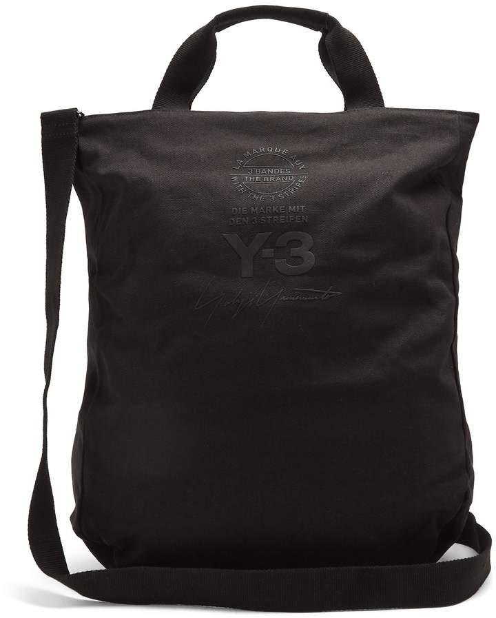 Y-3 Logo-print canvas tote bag