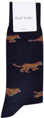 Paul Smith Cheetah Motif Socks