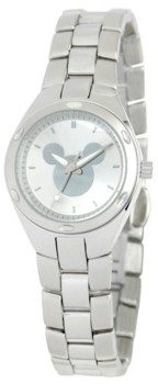 EWatchFactory Disney Mickey Mouse Women's Silver Stainless Steel Fortaleza Watch