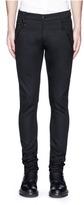 Alexander McQueen Leather pocket denim pants