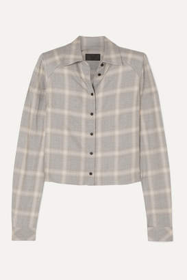 RtA Maxine Plaid Woven Shirt - Light gray