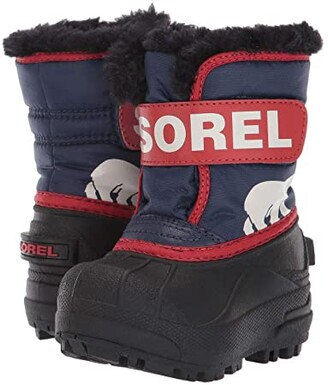 Sorel Snow Commander (Toddler) (Nocturnal/Sail Red) Boys Shoes