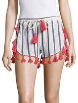 Saks Fifth Avenue Contrast Tassel Shorts