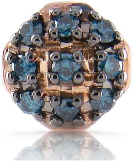 Stevie Wren 14k Pillow Charm with Blue/White Diamonds