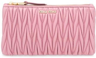 Miu Miu Matelasse Nappa Leather Envelope Clutch