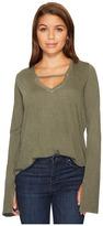Joe's Jeans V-Neck Long Sleeve Top Women's Long Sleeve Pullover