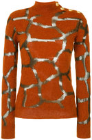 Balmain button embellished textured sweater