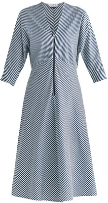 Paisie Pam Striped Midi Dress