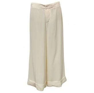 Marni \N White Silk Trousers