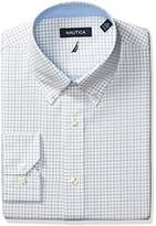 Nautica Men's Tattersal Buttondown Collar Dress Shirt