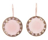 Andrea Fohrman Pink Opal Kat Earrings with Champagne Diamonds - Rose Gold