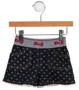 Dolce & Gabbana Girls' Logo Accented Denim Skirt