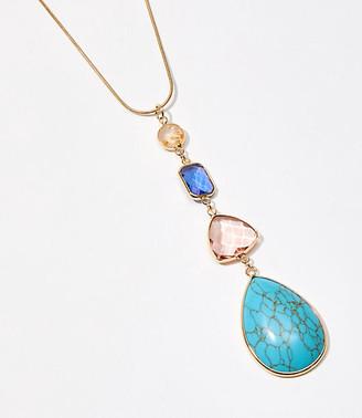 LOFT Stone Pendant Necklace