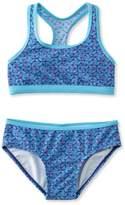 L.L. Bean Girls BeanSport Racer-Back Bikini, Print