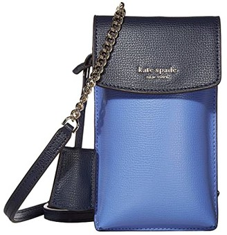 Kate Spade Sylvia North South Flap Crossbody (Forget-Me-Not Multi) Computer Bags
