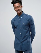 Lacoste Shirt With Polka Dot In Blue Slim Fit