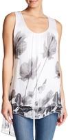 Luma Hi-Lo Floral Print Silk Tank