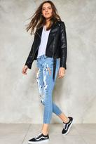 Nasty Gal nastygal Painted Love Skinny Jeans