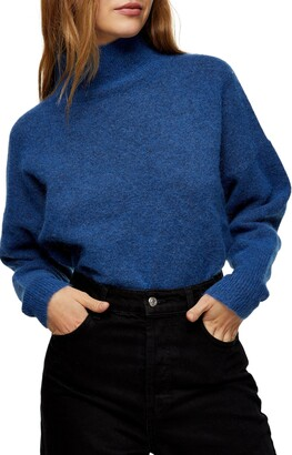 Textured Funnel Neck Sweater