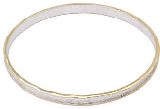 Coomi Serenity Sterling Silver Round Bangle