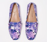 Isaac Mizrahi Live! Floral Printed Leather Moccasins