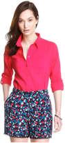 Joe Fresh Women's Crinkle Weekend Shirt, Berry (Size XL)