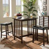 Baxton Studio Nova Wood Kitchen Breakfast Table 3-piece Set
