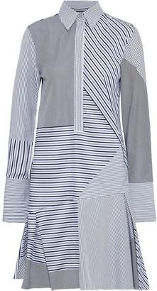 Victoria Victoria Beckham Patchwork Striped Cotton-poplin Shirt Dress