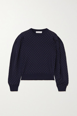 Michael Kors Studded Merino Wool Top - Midnight blue