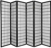 Oriental Furniture Asian Decor 6-Feet Japanese Double Sided Window Pane Shoji Privacy Screen