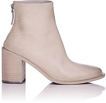 Marsèll Women's Distressed Leather Ankle Boots - White