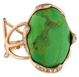 Lucifer Vir Honestus 18K Green Turquoise & Diamond Cocktail Ring