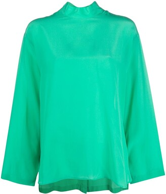Jejia Silk Back Buttoned-Up Shirt