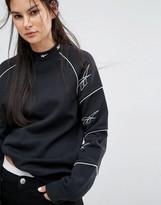 Reebok Classics Sweatshirt With Multi Vector Print In Black