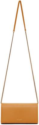 Saint Laurent Yellow Leather Chain Wallet Bag