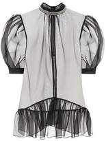 Christopher Kane Sheer silk blouse