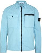 Stone Island Blue Cotton Overshirt