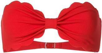 Marysia Swim strapless scalloped trim bikini top