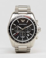 Emporio Armani Chronograph Watch In Silver Ar6098