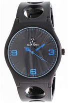 Toy Watch ToyWatch Cuff Only Time Stainless Steel Watch, Black