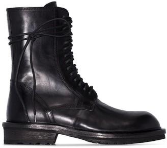 Ann Demeulemeester combat boots