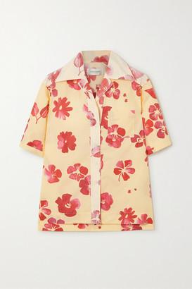 Wales Bonner Havana Floral-print Cotton-poplin Shirt - Yellow