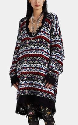 R 13 Women's Fair Isle Intarsia-Knit Oversized Sweater