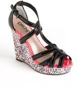 DKNY Linda Platform Wedge Sandals